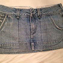 Hollister Co. by Abercrombie Womens/girls Jeans Mini Skirtlight Washsize 3euc Photo