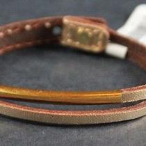 Hollister Genuine Leather Womens Shine Bracelet Gold  7