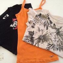 Hollister Gilly Hicks Express Lot of 3 Shirts Top Spring Summer Girl Junior Xs Photo