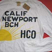Hollister Hco California Men's Dudes Large Long Sleeve Newport Beach Shirt New Photo