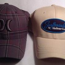 Hollister Khaki Fitted Hat and Hurley Gray Fitted Hat Photo