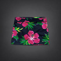 Hollister Navy Blue Pink Green Sequin Flower Shine Skirt Bottom Bettys 5 27 Nwt Photo