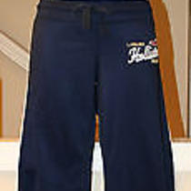 Hollister Solid Navy Blue Gym Lounge Pants Sz Xs Shine Smooth Drawstring Sporty  Photo