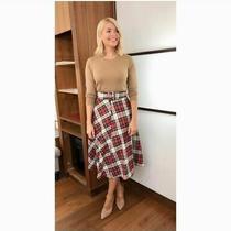 Holly h&m Checked Plaid Tartan Midi Skirt Bell Shaped  Sz 4 Eu 32 Us 0 Photo