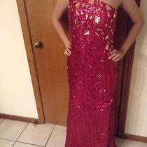 Homecoming Blush Prom Dress Sequin One Shoulder Embellished S/2 Photo