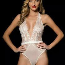 Honey Birdette Chloe Ivory Small Bodysuit 4 Express Lace Teddy Playsuit White Photo