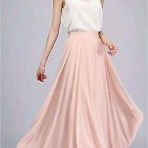 Honey Qiao Chiffon Maxi Skirt Bridesmaid Dresses Long High Blush Size Small Ni Photo