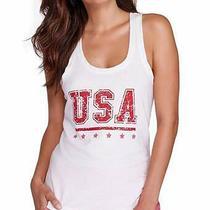 Honeydew Intimates Usa Pajama Sleep Tank Top White Red Womens Medium Nwt Photo