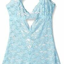 Honeydew Womens Mia Teddy Romper Aqua Blue Size Small S Lace One-Piece 48 800 Photo