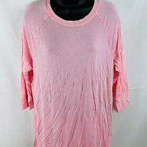 Honeydew Womens Pajama Shirt Top 3/4 Sleeve Pink Size Medium Photo