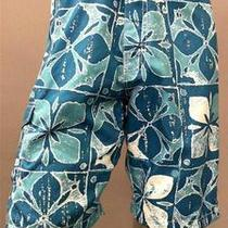 Honolua Mens 34 Board Shorts Aqua Blue Floral Designer Swim Fashion Sale 14ax.1 Photo