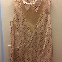 Honor Nyc Women's Runway Nwt Blush Pink Polka Dot Tank Top Blouse Size 4 Photo