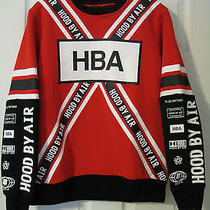 Hood by Air Hba Fossil Long Sleeve T Shirt White Mens Size M Red White Black Photo
