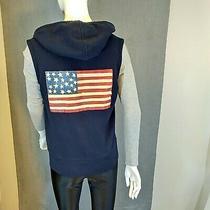 Hoodie Vest Patriotic American Flag Tommy Hilfiger Photo