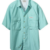 Hook and Tackle Mens Gulf Stream Short Sleeve Fishing Shirt Small-3xl Photo