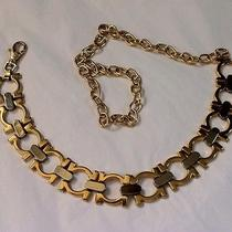Horse Bit Look Gold & Silver Chain Belt (Gucci or Ferragamo Inspired) 36