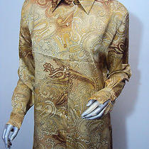 Horst Basler Antique Gold Blouse - Size 10 -  Euro 38 Photo