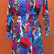 Hot 1970s Op Art Graphic Print Lanvin Dress. Shirt Waist. Belted. Medium Large Photo