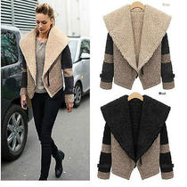 Hot2013 New Style European and American Woman Joining Together Lambs Wool Coat Photo