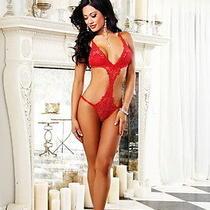 Hot Bedroom Fantasy Venice Lace Trim Thong Teddy Nightwear Lingerie Adult Women Photo