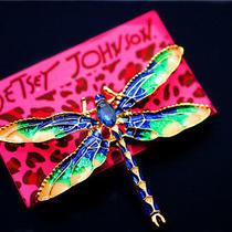Hot Betsey Johnson Beautiful  Jewelry Enamel Crystal Dragonfly Charm Brooch Pin Photo