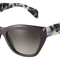 Hot Genuine Prada Ladies Poeme Collection Dark Brown Sunglasses Pr 02qs Spr 02q Photo