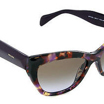 Hot Genuine Prada Women Poeme Havana Tortoise Violet Sunglasses Pr 02qs Spr 02q Photo