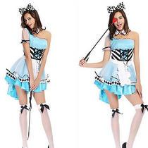 Hot New Alice in Wonderland Fantasy Game Uniforms Halloween Costumes Female Photo