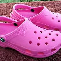 Hot Pinkcrocsladies Fun Shoes....size 89 Photo