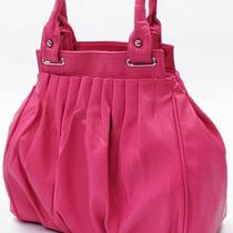 Hot Pink Faux Leather Handbag Purse Hobo Shoulder Bag Tote 2 Way 5067 Pnk Photo