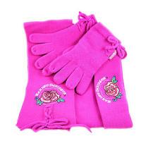 Hot Pink Harley Davidson Knit Scarf Gloves Hat Set Photo