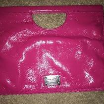 Hot Pink Nine West Med/large Unique Handle Clutch/handbag Photo