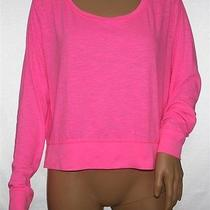 Hot Pink Victoria's Secret T-Shirt With Wide Cuffs & Bottom Size L Pxs Photo