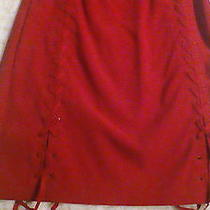 Hot Red Dress Strapless and Laces on Both Sides. Express Stretch. Photo