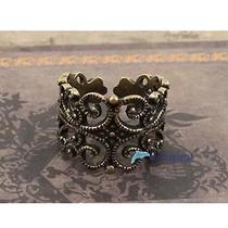 Hot Sale Men's New Fashion Vintage Hollow Out Pierced U Open Ring Yun Photo