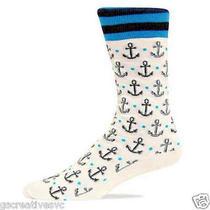 Hot Sox Men Dress Slack Socks Natural Anchors New Men's Size 10-13 Photo