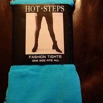 Hot Steps Fashion Tights New W/ Tags Aqua One Size Fits All Free Shipping Photo
