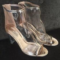 Hot Tomato Turia Rose Gold Acrylic Clear Ankle Boot Drag Queen Shoes Women's 12  Photo