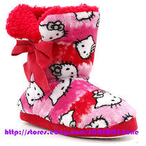 Hot Topic Sanrio Hello Kitty Head Pink Tie Dye Shoes Socks Slippers Indoor Boots Photo