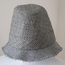 Houndstooth Gray Wool Fedora Trilby Hat Size M/l by J.crew Photo