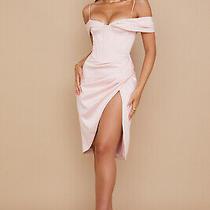 House of Cb 'Camila' Blush Off Shoulder Corset Dress M 10 / 12  Mm 1536 Photo