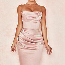 House of Cb 'Emilia' Blush Satin Strapless Corset Dress /size Xs-Us 2-4 /le757 Photo