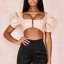 House of Cb 'Francine' Blush Bubble Sleeve Corset /size L-Us 8-10/ph16 Photo