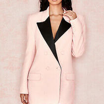 House of Cb 'Janis' Blush  Black Blazer Dress /size M-Us 6-8 /le619 Photo