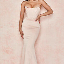 House of Cb 'Malika' Pale Blush Strapless Corset Gown /size M-Us 6-8 /jf378 Photo