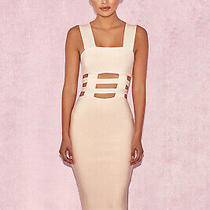 House of Cb 'Yarol' Blush Strappy Bandage Dress /size Xs-Us 2-4 /ph11 Photo