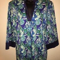 Htf Lilly Pulitzer Jugs Ginger Jar Tunic Top Womens Size Xl Cotton Spandex Photo