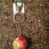 Htf Vera Bradley Have a Ball Keychain / Key Ring Nwt - Make Me Blush Photo
