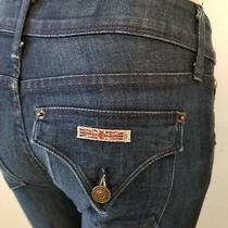 Hudson 26 X 32 Beth Baby Boot Cut Jeans Women's Size 24 Stretch Flap Pockets  Photo