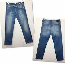 Hudson 36x33 Blue Jeans Stretch Denim Modern Casual Straight Leg Byron 5 Pocket Photo